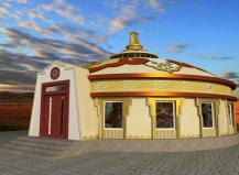 现代蒙古包餐厅概念图