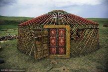 传统木结构蒙古包框架图